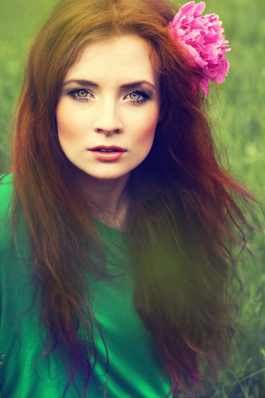 """mój najnowszy """"nabytek"""", piękna, efemeryczna modelka Paulina Łangowska, fot. Beatka Banach"""