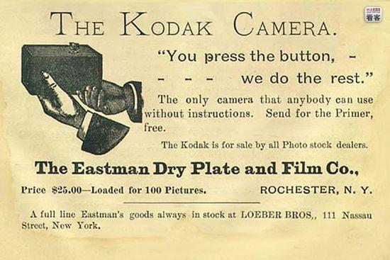 słynna reklama Kodaka z 1888 roku