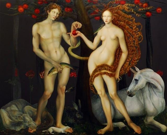 Obraz mojej ulubionej współcześnie żyjącej malarki Joanny Chrobak - sensualne, przepełnione metaforyką, symboliką kolorów.