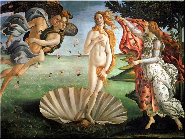 """""""Narodziny Wenus"""" pędzla malarza szkoły florenckiej Botticelliego to najpiękniejszy kobiecy akt od czasu antyku"""